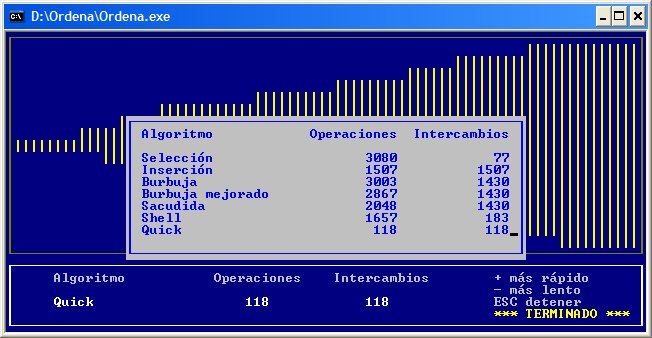La aplicación funcionando en Windows